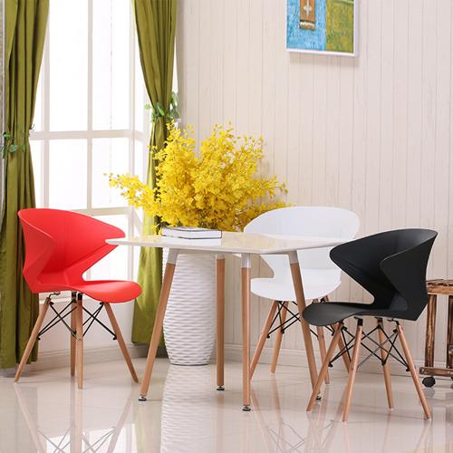Molded Plastic Dowel-Leg Armchair Image 2
