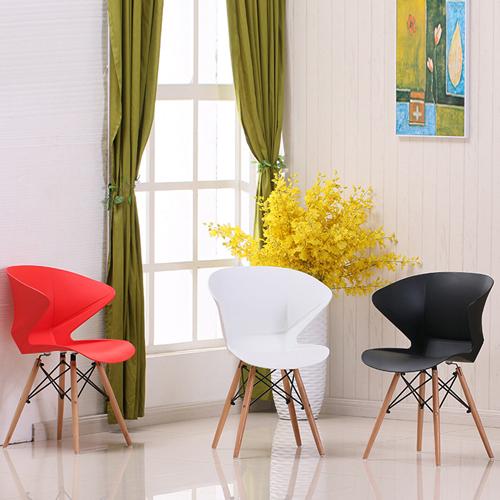 Molded Plastic Dowel-Leg Armchair Image 3