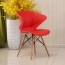 Molded Plastic Dowel-Leg Armchair Image 4