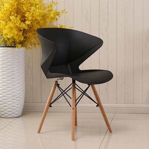 Molded Plastic Dowel-Leg Armchair Image 5