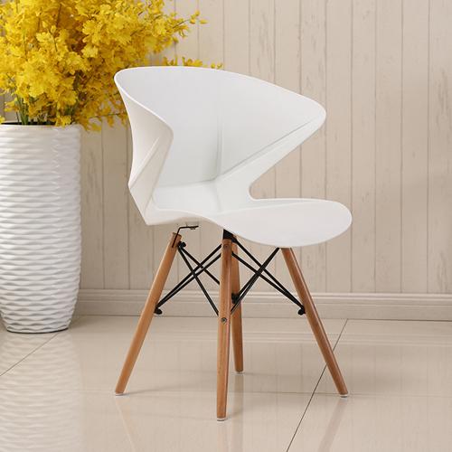 Molded Plastic Dowel-Leg Armchair Image 6