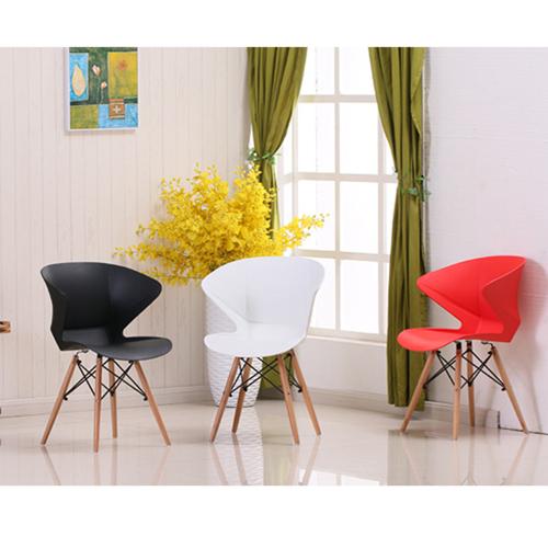 Molded Plastic Dowel-Leg Armchair Image 7