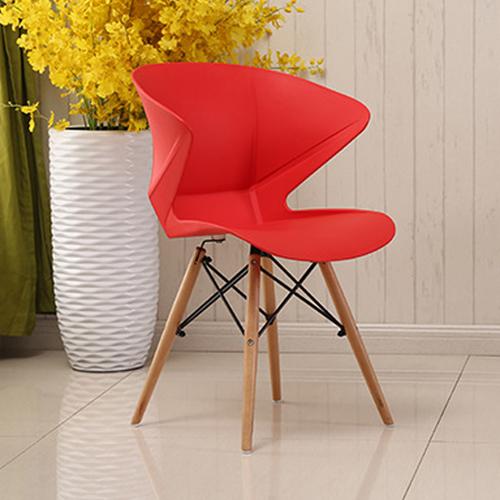 Molded Plastic Dowel-Leg Armchair Image 8