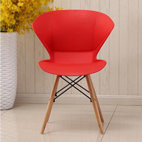 Molded Plastic Dowel-Leg Armchair Image 9