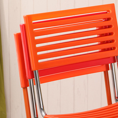 Blaze Stackable Chair With Chrome Frame