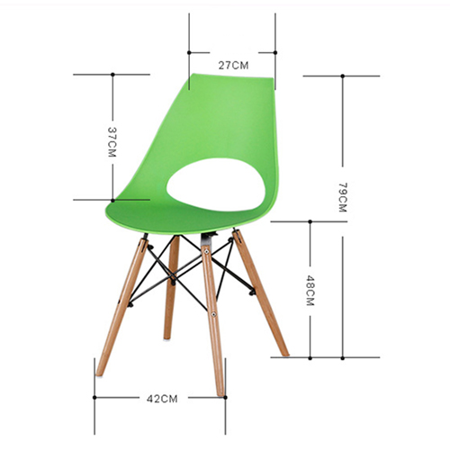 Cincyr Molded Chair with Dowel Base Image 19