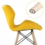 Butterfly Upholstered Chair With Dowel Base Image 2