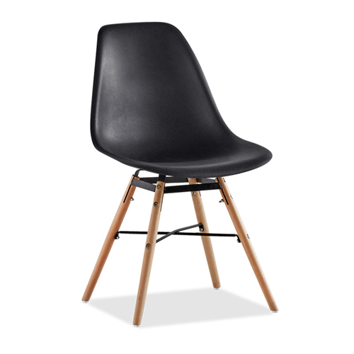 Flexigen Plastic Chair With Wood Base