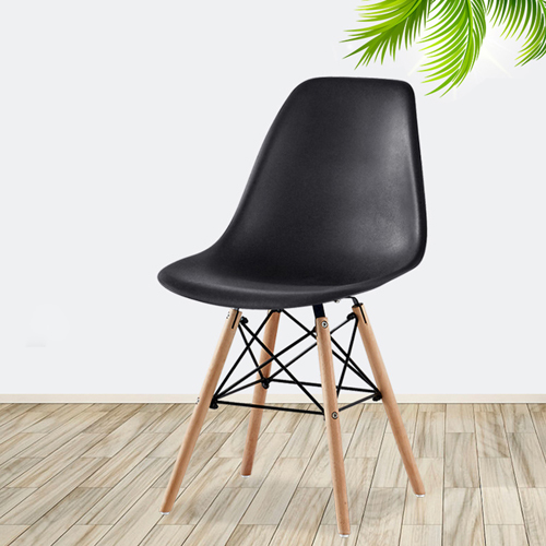 Creative Chair With Tapered Wood Leg