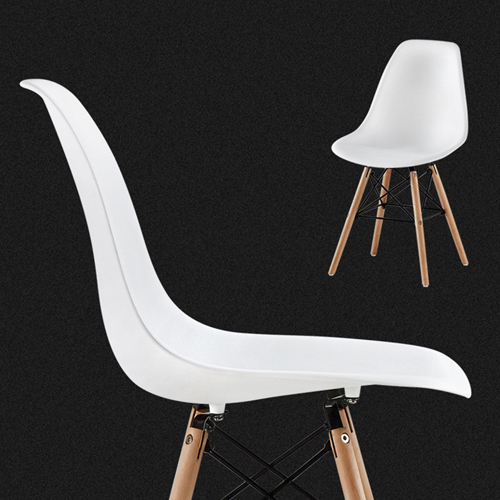 Creative Chair With Tapered Wood Leg Image 2