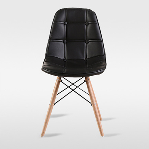 Button Style Chair With Eiffel Wood Base Image 13