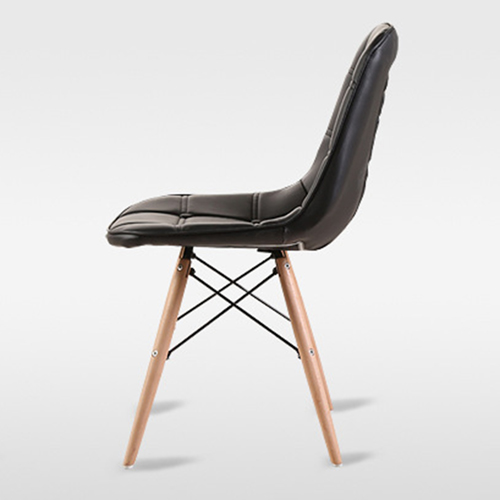 Button Style Chair With Eiffel Wood Base Image 15