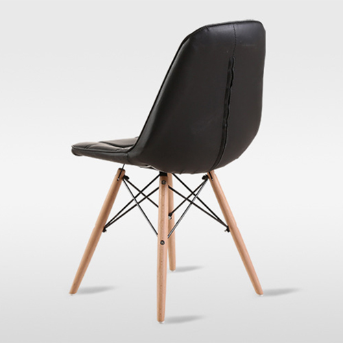 Button Style Chair With Eiffel Wood Base Image 16
