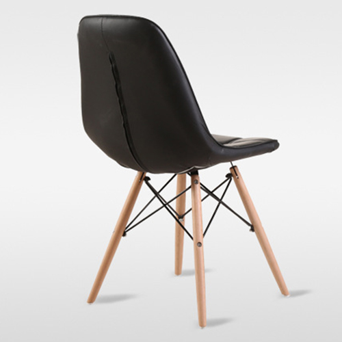 Button Style Chair With Eiffel Wood Base Image 17