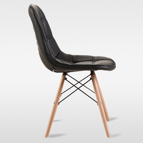 Button Style Chair With Eiffel Wood Base Image 18