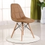 Button Style Chair With Eiffel Wood Base Image 7