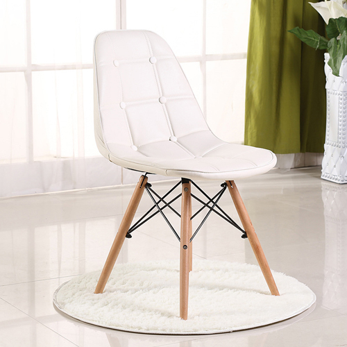 Button Style Chair With Eiffel Wood Base Image 8