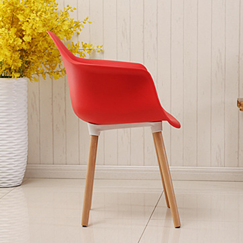 Minishares Molded Armchair with Wood Legs Image 9