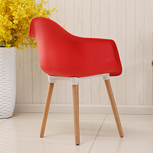Minishares Molded Armchair with Wood Legs Image 10