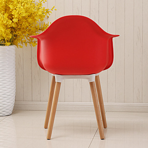Minishares Molded Armchair with Wood Legs Image 11