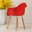 Minishares Molded Armchair with Wood Legs Image 12