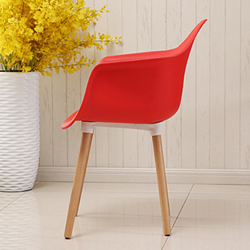 Minishares Molded Armchair with Wood Legs Image 13