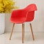 Minishares Molded Armchair with Wood Legs