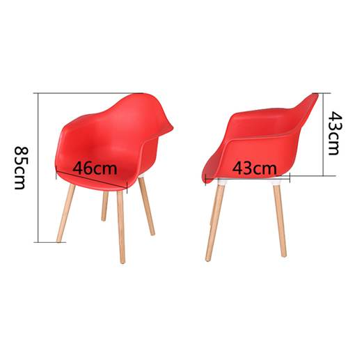 Minishares Molded Armchair with Wood Legs Image 22