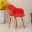Minishares Molded Armchair with Wood Legs Image 1