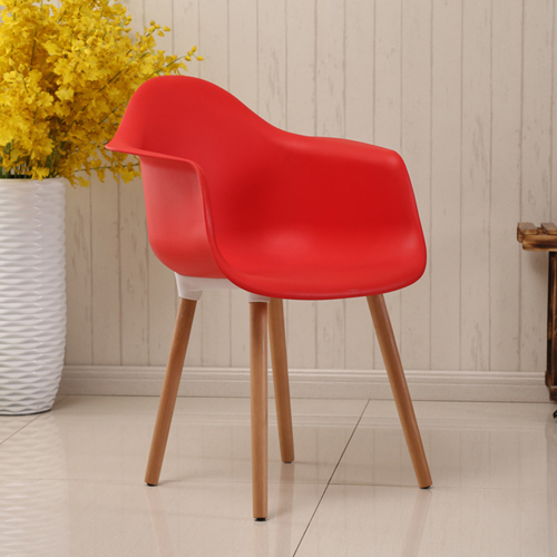 Minishares Molded Armchair with Wood Legs Image 5