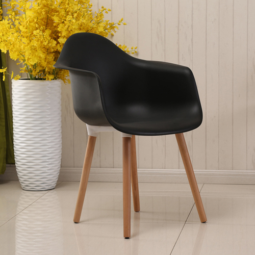 Minishares Molded Armchair with Wood Legs Image 6