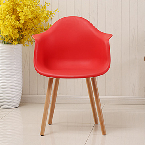 Minishares Molded Armchair with Wood Legs Image 7