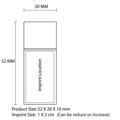 4GB Premium Metal Flash Drive Imprint Image