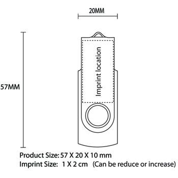 1GB Rotate USB Flash Drive