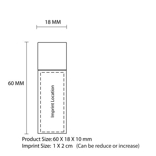 2GB Bamboo USB Flash Drive Imprint Image