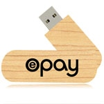 8GB Swivel Swing Wooden Flash Drive