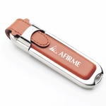 16GB Leather Flash Drive