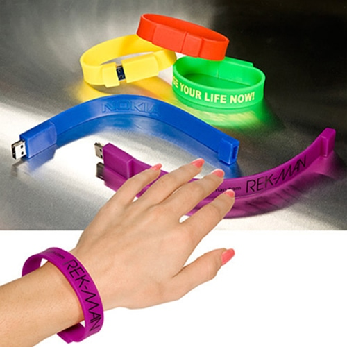 2GB Wristband USB Flash Drive Image 1