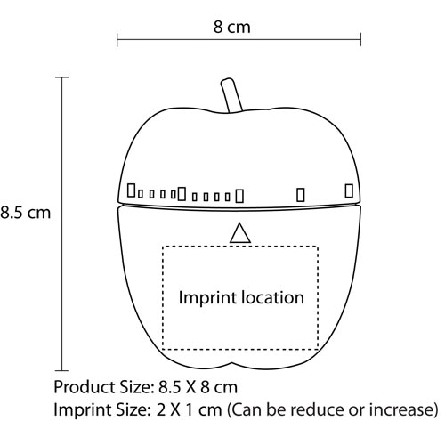 Apple Shaped Kitchen Timer Imprint Image