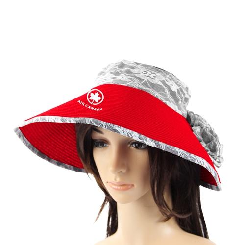 Folding Straw Sun Visor Hat