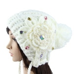 Stylish Flower Crochet Knit Hat