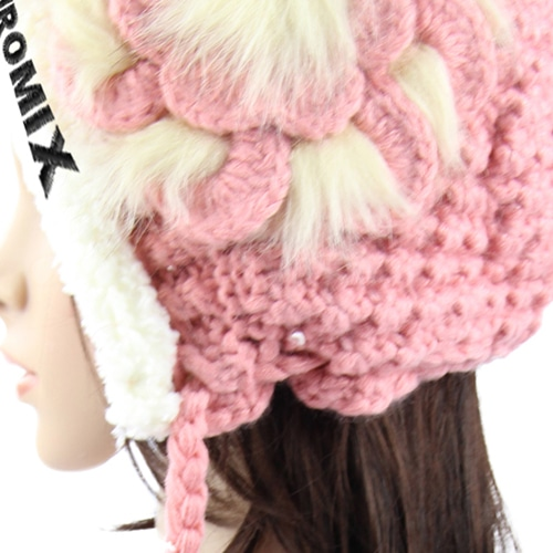 Graceful Knit Hat With Earflap