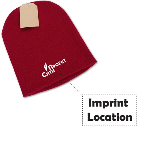 Unisex Comfy Knit Beanie Imprint Image