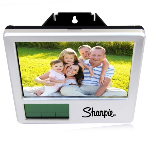 Photo Frame Clock With Pen Holder Image 12