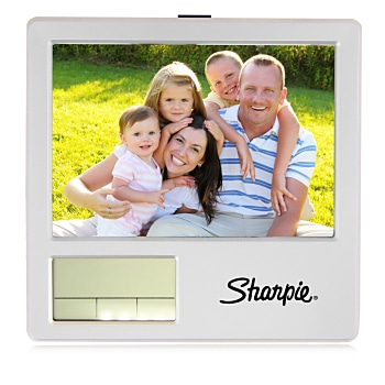Photo Frame Clock With Pen Holder