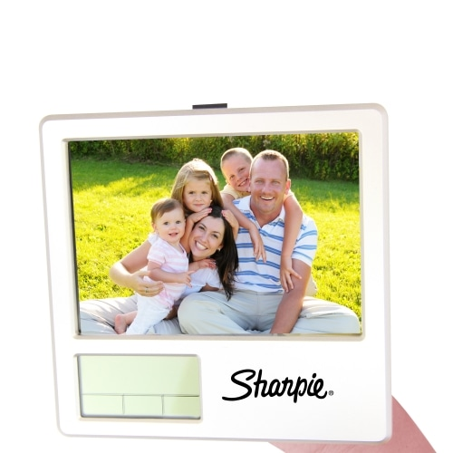 Photo Frame Clock With Pen Holder Image 4