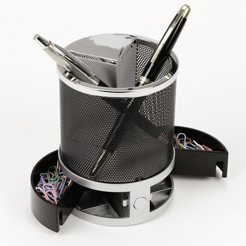 Nimble Multifunction Pen Holder Clock Image 3