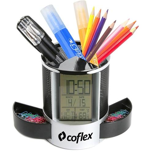 Nimble Multifunction Pen Holder Clock