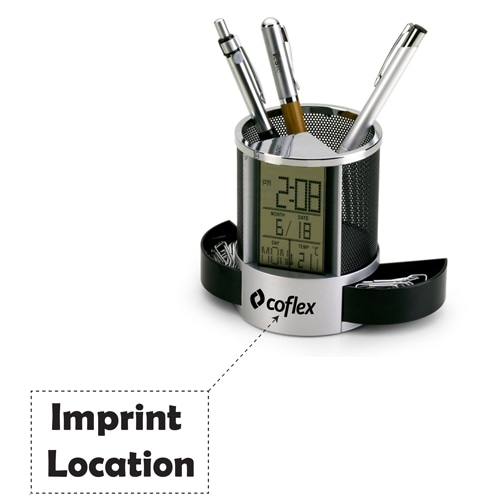 Nimble Multifunction Pen Holder Clock