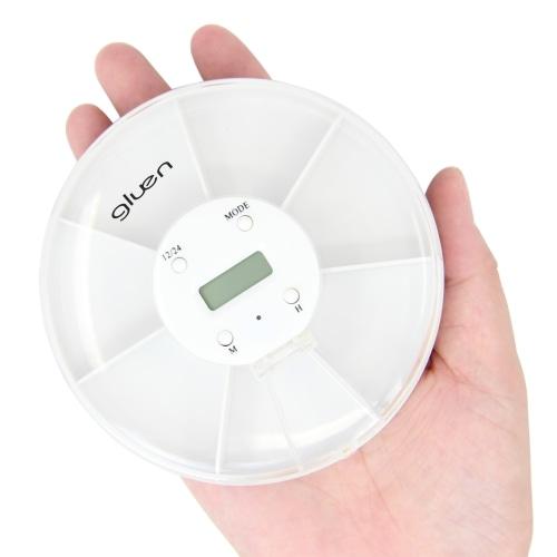 Portable Weekly Digital Pill Box Timer